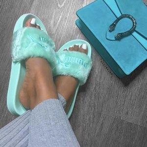 Puma Fenty By Rihanna Faux Fur Slide Sandal
